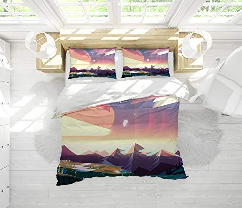 Bedding 3-Piece King Bed Sheets Set,Comforter Set Steven Universe Wrinkle, Fade, Stain Resistant Soft Breathable King Size