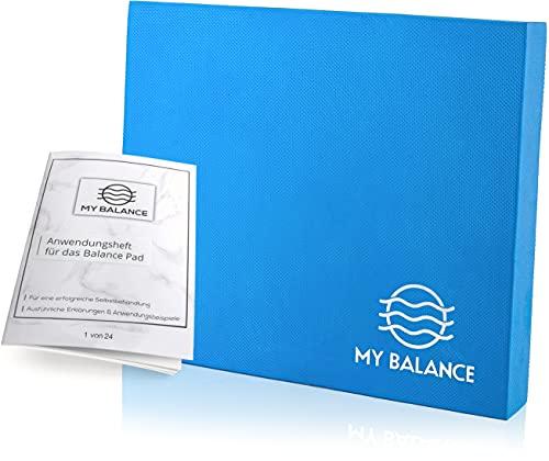 My Balance® Balance Pad + GRATIS Anwendungsheft 24seitig | Innovatives Balance-Kissen als Gymnastikmatte zur Verbesserung deiner Fitness-Koordination, Stabilität oder als Therapie Pad zum Reha-Sport