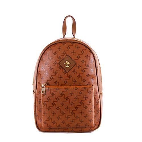 Rucksack Damen klein elegant   Damen-Rucksackhandtasche als modischer Rucksack für den Alltag   Kleiner Rucksack für Damen als Rucksack für City   Damenrucksack elegant   Gio&Mi (Cognac)