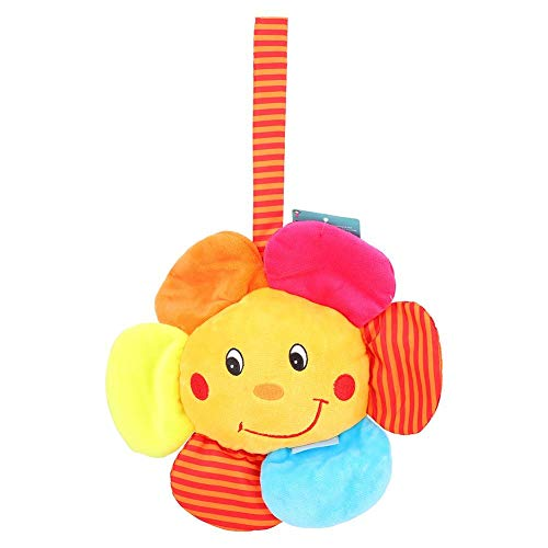 Kinderwagen Hängen Spielzeug schöne Baby Rassel Spielzeug Sun Flower Pull Bell Spieluhr Nette Krippe Bett Plüschtier Bett Ring Spielzeug Geschenke
