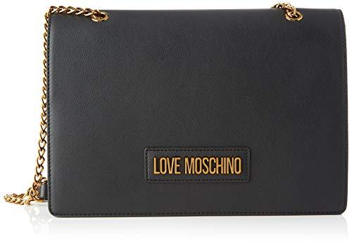 Love Moschino Jc4260pp0a, Borsa a Tracolla Donna, Nero (Black PU), 10x18x27.5 cm (W x H x L)