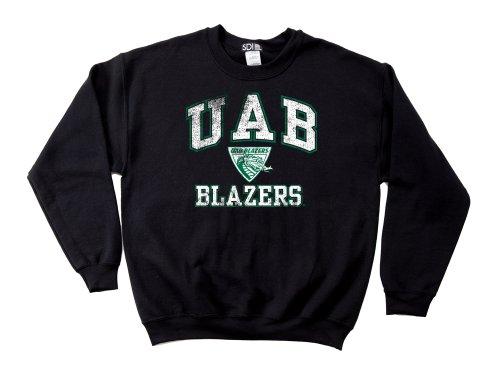 Alabama Birmingham Blazers 50/50 Blended 8-Ounce Vintage Mascot Crewneck Sweatshirt, X-Large, Black