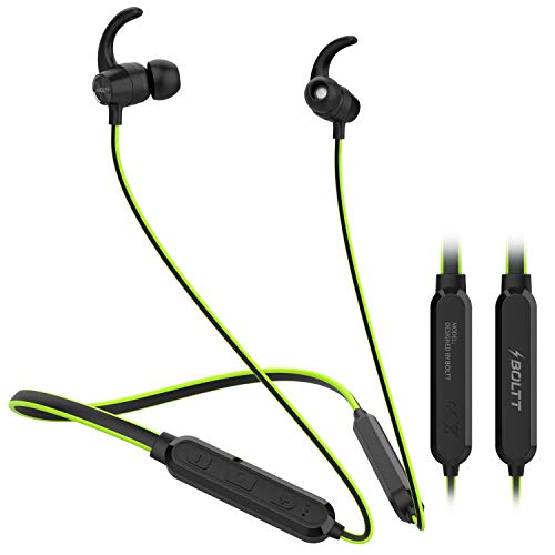 Fire-Boltt Echo 1100 Neckband in Ear Wireless Bluetooth 5.0 Earphone Hearable with Incredible Sound, Google & Siri Assistance, Adjustable Neckband & Magnetic Earbuds (Green)