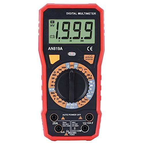 Taidda- Volt Ohm Meter DC AC Resistance Meter Voltmetro con Display a 4 cifre, multimetro, elettricità Domestica(#6)