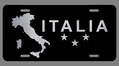 Vincit Veritas Italian Flag for Car Black Laser Etched Metal License Plate Decorations Italy Flag Pride Decor Italian Gift Italy Gifts   Premium Quality   12-Inch by 6-Inch   LP010