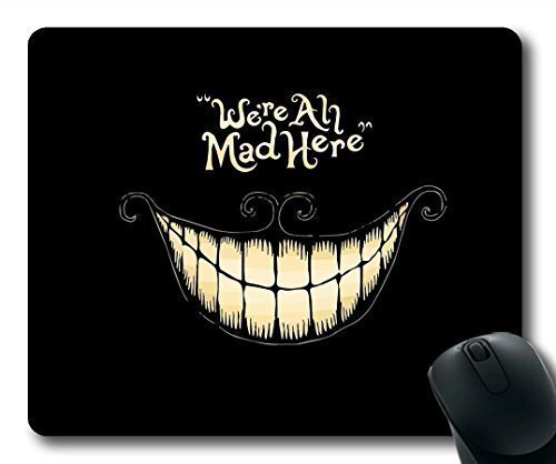 Eeejumpe We're All Mad Here Design Regular Computer Mouse Pad