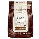 Callebaut Chocolate con Leche 33.6% El Mejor Chocolate Belga Callets 2.5Kg