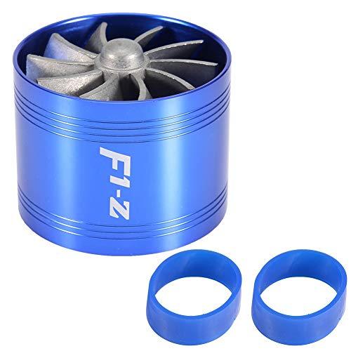 Turbo turbina compressore, Fydun turbocompressore aspirazione aria auto turbina singola turbina caricatore eccellente gas risparmio carburante turbo 64mm(Blu)