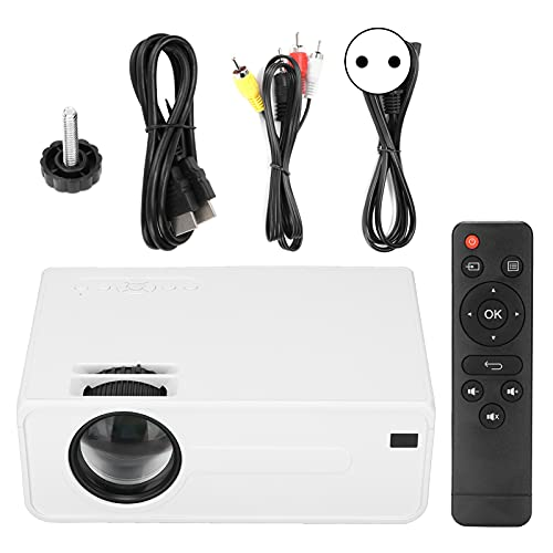 Mini Proiettore 4 Pollici, Proiettore LED Wifi Full HD Portatile, Videoproiettore per Uso Domestico per Tablet/Telefoni Cellulari Proiettore di Film All'aperto per Cortile/Viaggi/Campeggio(EU)