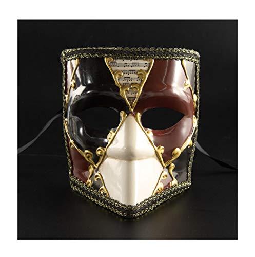 WFTD Roman Maske Männer gemalten Tanz Maske in DREI Farben geeignet für Masquerade Party Performance Festival Carnival, One Size,Red