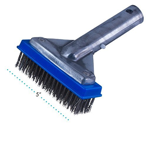 Milliard 5' Heavy Duty Wire Pool Algae Brush, Designed for Concrete and Gunite Pools Great on Extremely Tough Stains