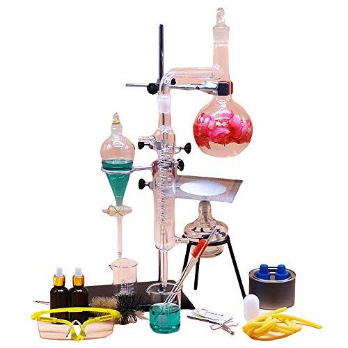 Laboratorium Magnetische Mixer Alle Glas Gedistilleerd Water Apparaat Elektrische Oven Chemische Experiment Onderwijzen Instrument Bloemblaasinstrument Zuivering Essentiële Olie Verfijnen