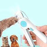 YDSDE Krallenschere Katzen mit LED Lichter, krallenschere für Hunde mit Spritzfest Schutzvorrichtung, krallenschere Kaninchen, krallenschere für Große & Mittelgroße Hunde & Katze & Kaninchen. (Blau)