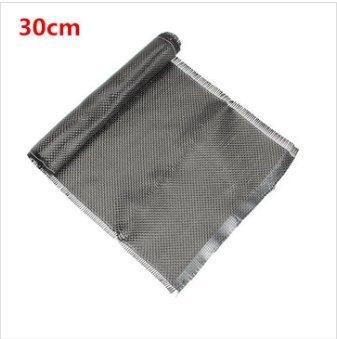 EsportsMJJ 3K 200 grams 20 cm effen weven koolstofvezel doek stof 30/60/150/300 cm, 30cm, Zwart, 1