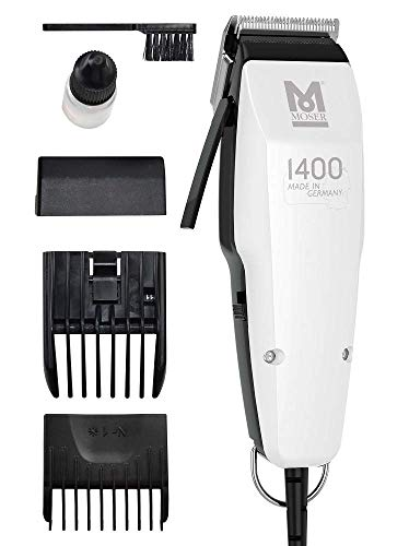 Moser 1400.0458 Edition 1400 - Cortapelos con cable, corded-electric, plateado