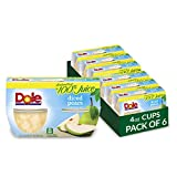 Dole Fruit Bowls, Pears Diced in 100% Fruit Juice, 4 Count, 4 Ounce Cups (Pack of 6) - 24 Total Bowls
