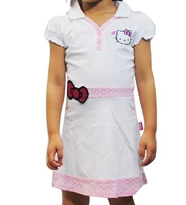 Hello Kitty Girls` Polo Tennis/Golf Dress (3T, White Golf)