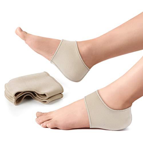 Haofy Fersensporn Bandage Fersensocken für Fersenschmerzen, Fersenschutz Bandage Fersensporn Socken Heel Wrap zu Reduzieren Druck, 1 Paar Fersenschoner für Trockene Rissige Ferse, Achilles tendonitis