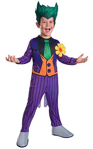 Rubies Disfraz oficial de DC Villain The Joker para niño, talla mediana de 5 a 7 años