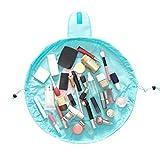 Yixinlifeas 1 stücke helle blaue große kapazität kordelzug kosmetiktasche faul kosmetiktasche...