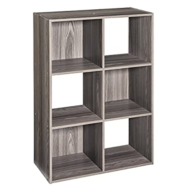 ClosetMaid 4166 Cubeicals Organizer, 6-Cube, Natural Gray