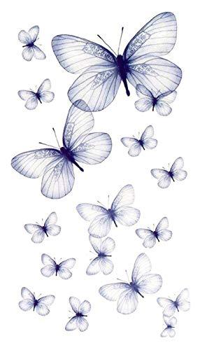 LIB'AIR TATTOO - Tatouage temporaire/éphémère - Papillons pastel (60 * 105mm)