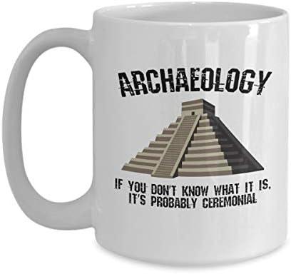 DKISEE Archeologie Geschenk Archeologie Geschenk Archeologie Archeologie Mok Grappige Archeologie Archeoloog Gift Archeoloog Mok Archeoloog Mok 15oz Kleur wit