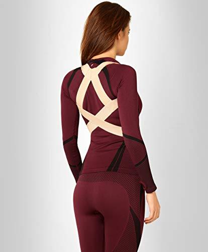 ®BeFit24 - Geradehalter zur Haltungskorrektur für Rücken und Schulter für Kinder, Damen und Herren - Wirbelsäulen Stütze - Back Posture Corrector for Men and Women [ Size 3 - Beige ]