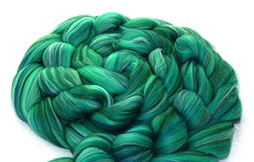 World of Wool Multicolor Merino-Kammzug Mind The Gap (100g/100% Wolle/Farbe:Grün)