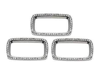 NIUHURU Car Interior Trim Fitting Bling Accessories for Audi A3 S3 Q2 2014-2020 Parts Accessories Rhinestone Crystal Decals Sticker  Window Glass Lift Button Stickers 3 Pieces