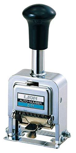 Lion Pro-Line Heavy-Duty Automatic Numbering Machine, 6-Wheel, Roman, 1 Numbering Machine (C-71)