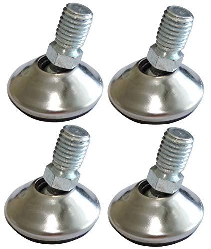 AERZETIX: Patas pivotantes ajustables regulables para muebles M10 para atornillar Ø32 H35mm C42475 (4 piezas)