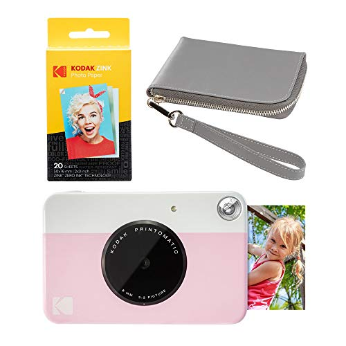 Kodak PRINTOMATIC - Juego de funda para cámara fotográfica (impresión instantánea), color gris