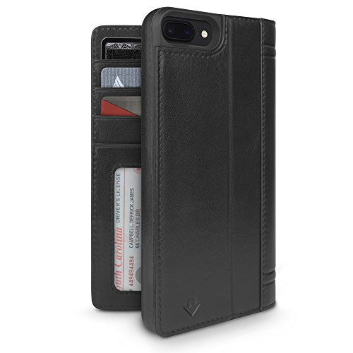 Twelve South Journal - Funda con Soporte de pantalla para iPhone 8 Plus/ 7 Plus/ 6 Plus, color Negro