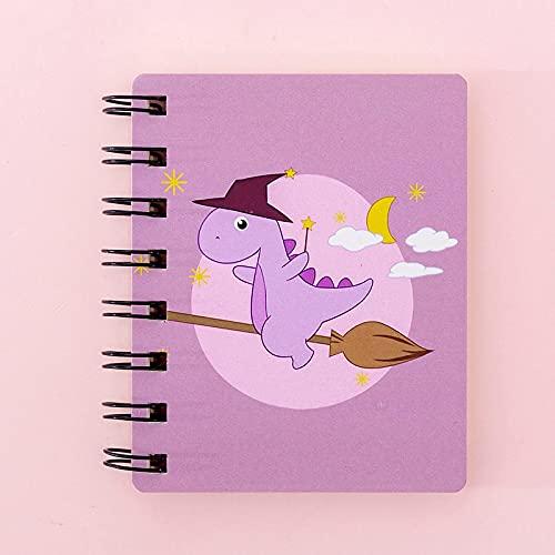 Kawaii Unicornio Cuadernos En Espiral A7 Bloc De Notas Lindo Dinosaurio Sckechbook Para Dibujar Papelería Coreana Escuela A7 2