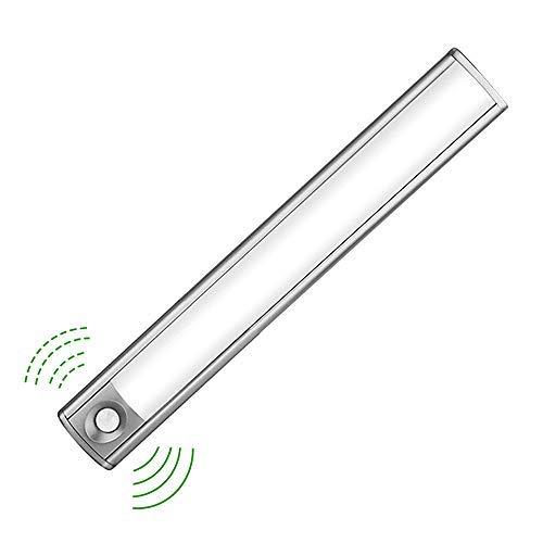 Preisvergleich Produktbild LED Schrankbeleuchtung mit Lichtsensor,  33 LED Nachtlicht mit Bewegungssensor und Helligkeitssensor,  Akku-Schrankleuchte für Kleiderschrank, Flur,  Treppe,  Küche,  Keller,  Garage,  Schrank,  Regal etc