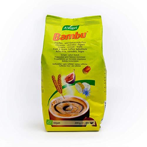 A.Vogel - Recharge Bambu - Substitut de Café Instantané Bio - 100 % Naturel - Sans Caféine - À base de Céréales Torréfiées - À Boire Chaud ou Froid - 200 g env. 130 Tasses - Fabriqué en Allemagne