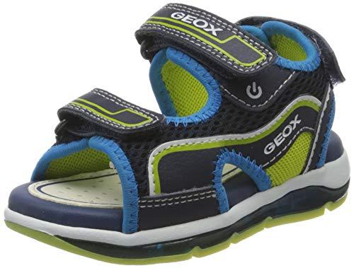 Geox B Sandal Todo Boy Bimbo 0-24, Navy/Lime C0749, 23 EU