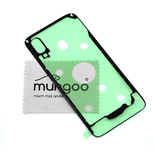 Akkudeckel Klebefilm für Samsung Original für Samsung Galaxy A40 A405F Dichtung Kleber Adhesive mit mungoo Displayputztuch