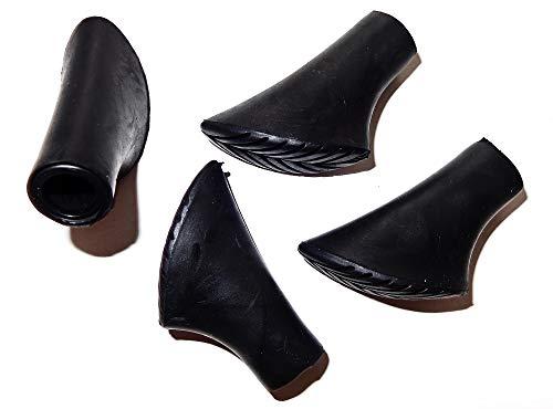 Eurobatt 4X Gummipuffer Ersatzfüße für Nordic Walking Stöcke Pads schwarz