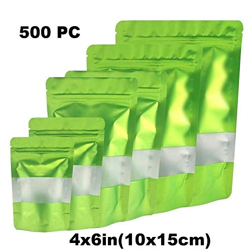 Best Deals! Durable and Wonderful 500PC - 4x6in(10x15cm) Foil Mylar Matte Stand Up Zip Lock Bag w/Re...