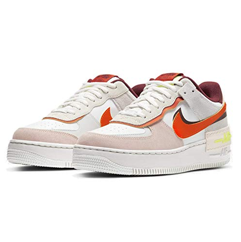 Nike Damen W AF1 Shadow Basketballschuh, Team Red Orange Orange Pearl Volt Summit White Photon Dust, 38 EU