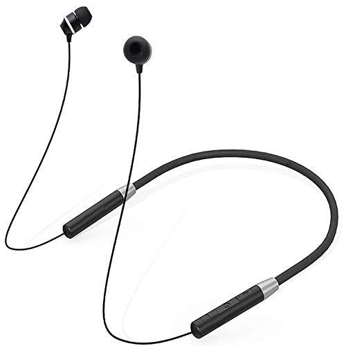Wireless Earphones Headphones for LG Optimus Big LU6800 Sports Bluetooth Wireless Earphone with Deep Bass and Neckband Hands-Free Calling inbuilt Mic Headphones with Long Battery Life and Flexible Headset (JDM, Black)