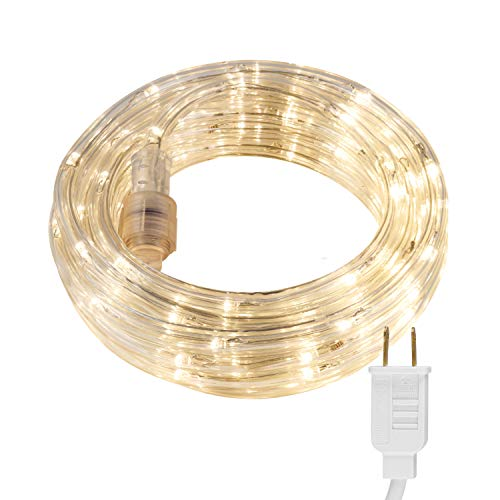 UltraPro Escape 16ft LED Rope, Warm White 3000K, Indoor or Outdoor, Linkable, Perfect for Deck, Garden, Patio, Landscape Lighting, Camping, Bedroom...