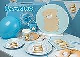 Visy Kit Decorazioni Idee Addobbi Set Bimbo Azzurro Divertente Festa Boy Battesimo Compleanno Piatti Tovaglioli Tovaglia Bicchieri Palloncini Candeline Bandierine Party Nascita 166PZ