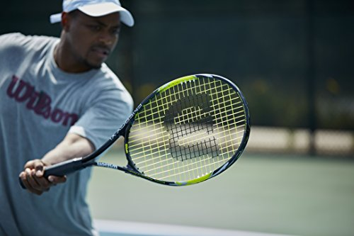 Product Image 3: Wilson Sporting Goods Energy XL Tennis Racquet (EA) , Yellow/Black, 4 3/8″