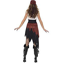 """Includes Pirate Wench Costume, Black, with Dress & Headpiece Bust 34.5-35.5"""" / Waist 26.5-27.5"""" / Hip 37-38"""" / Leg Inseam 32.5"""" Our dedicated in-house Safety team ensure that all of our products are manufactured and rigorously tested to comply with t..."""