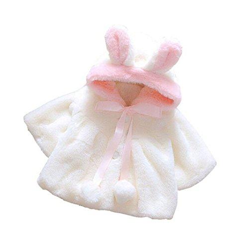 ZUMUii Butterme Baby Kind Kleinkind Starke warme Pelz Fleece mit Kapuze Cape Umhang Poncho Mantel Outwear Mantel