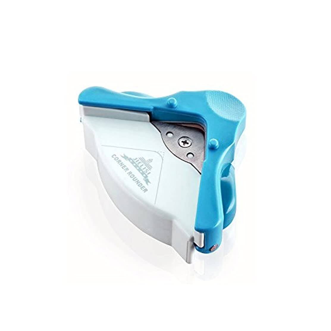 Corner Rounder with Chips Tray, Chrir.W Angle Eater Cutter Tool for Scrapbooking,Photo and Paper(Blue, 5mm)