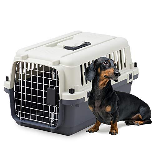 【Space OFT】 ペットケンネル・ファーストクラス L55 【外寸】幅36.5×奥56×高33.5cm 本体重量(約):2.4kg 犬 キャリー 猫 キャリー ペットキャリー ゲージ ハードキャリー 取っ手付き 室内用ハウス IATA安全基準クリア
